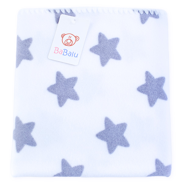 Baby fleece blanket with dedication 01 stars