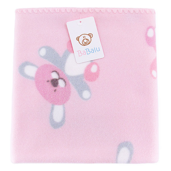 Baby fleece blanket with dedication 01