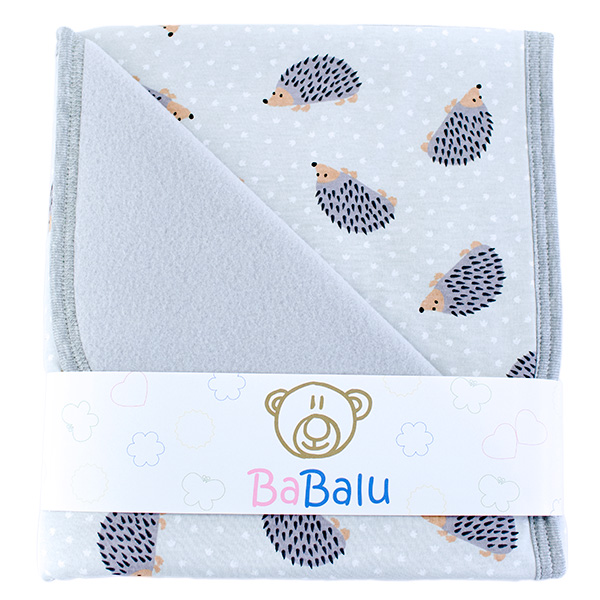 Baby fleece-cotton blanket 016 hedgehog