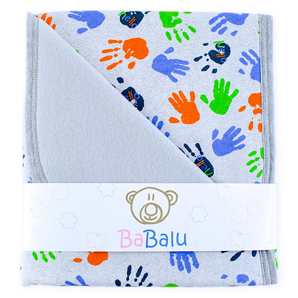 Baby fleece-cotton blanket 016 hello