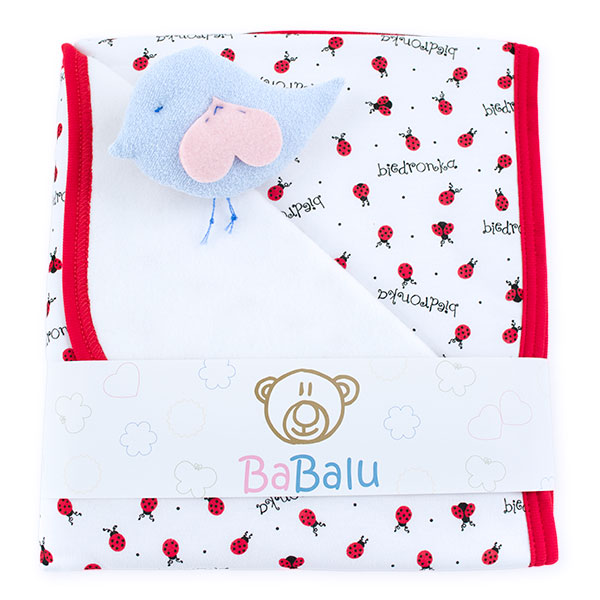 Baby fleece-cotton blanket 016 ladybugs