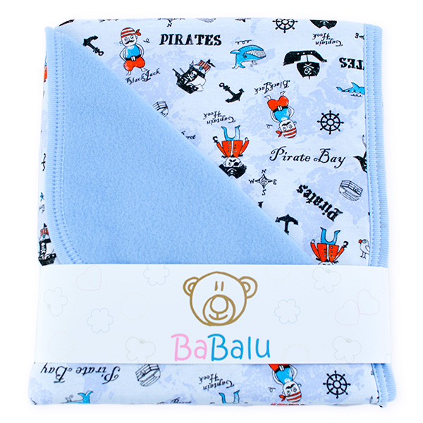 Baby fleece-cotton blanket 016 pirates