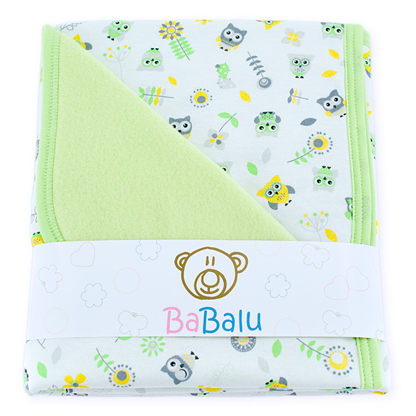 Baby fleece-cotton blanket 016 owls