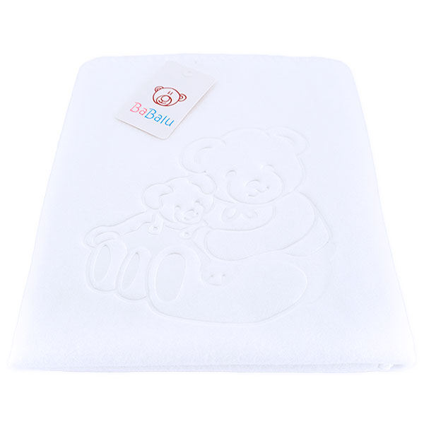 Baby fleece blanket 02 white 80x90