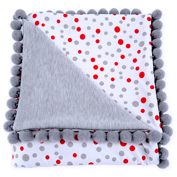 Cotton blanket with dedication Sophie 072 80x90 dots