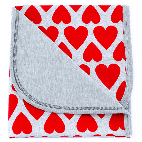 Cotton blanket Sophie 073 hearts 80x90