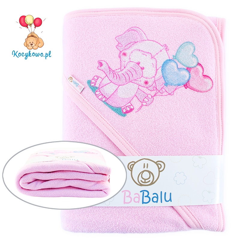Thick 2-layer bath towel 100x100 pink 038