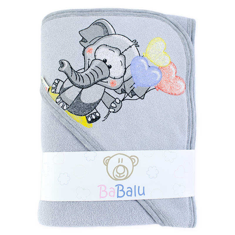 Thick bath towel 038 two layers grey 100x100