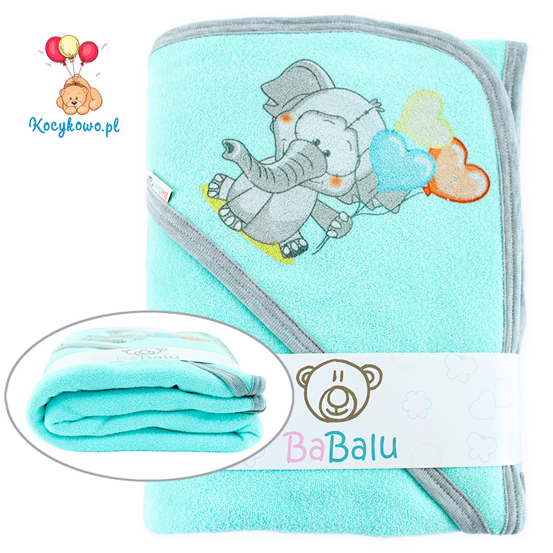Thick 2-layer bath towel 100x100 turquoise 038
