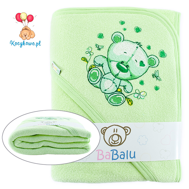 Thick 2-layer bath towel 100x100 green 038