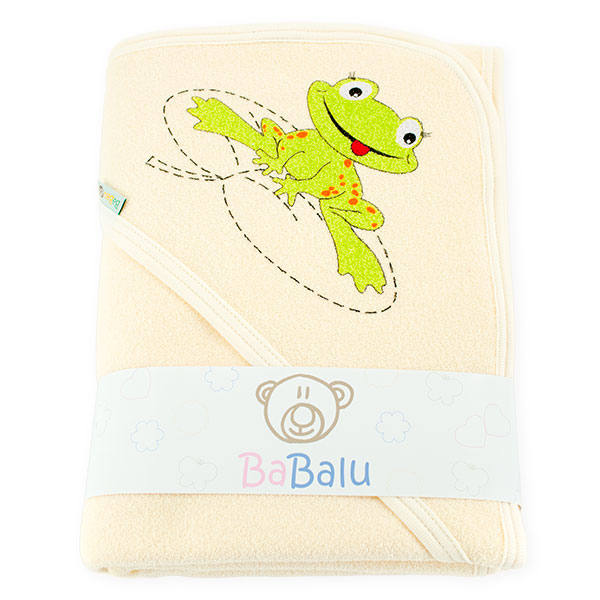 Thick bath towel 038 two layers ecru 100x100