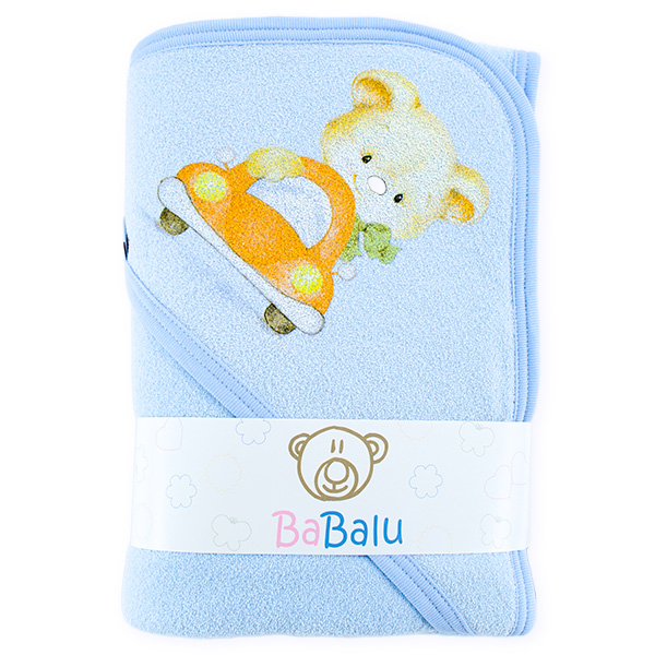 Thick bath towel 038 two layers blue 100x100