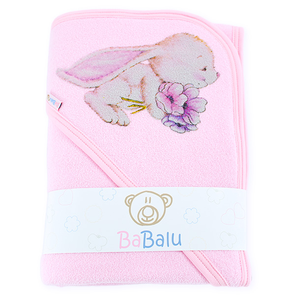 Thick bath towel 038 two layers pink 100x100