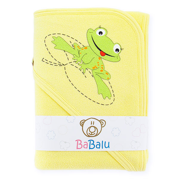Thick 2-layer bath towel 100x100 yellow 038