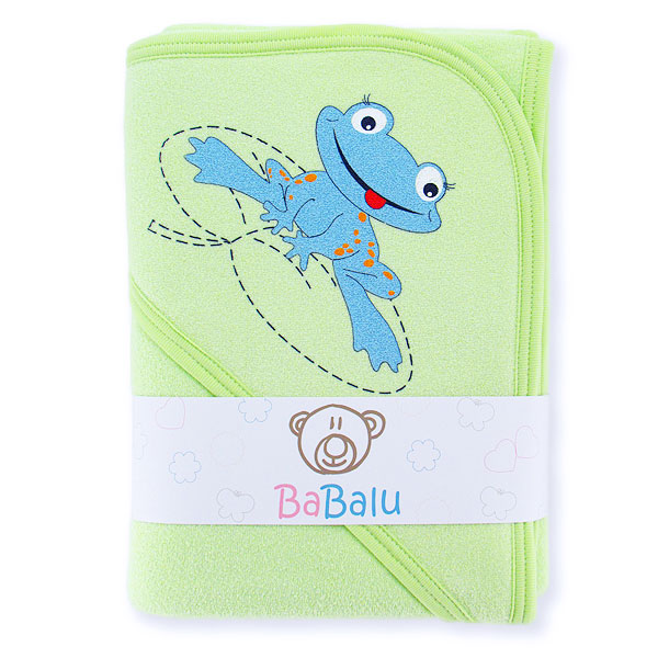 Thick bath towel 038 two layers green