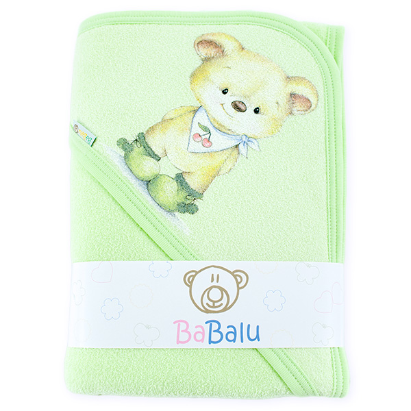 Thick bath towel 038 two layers green 100x100