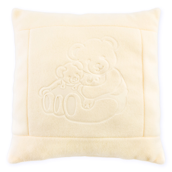 Fleece pillow 08 ecru