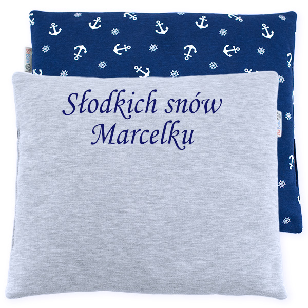 Cotton pillow with dedication 076 Sophie marine 28x34