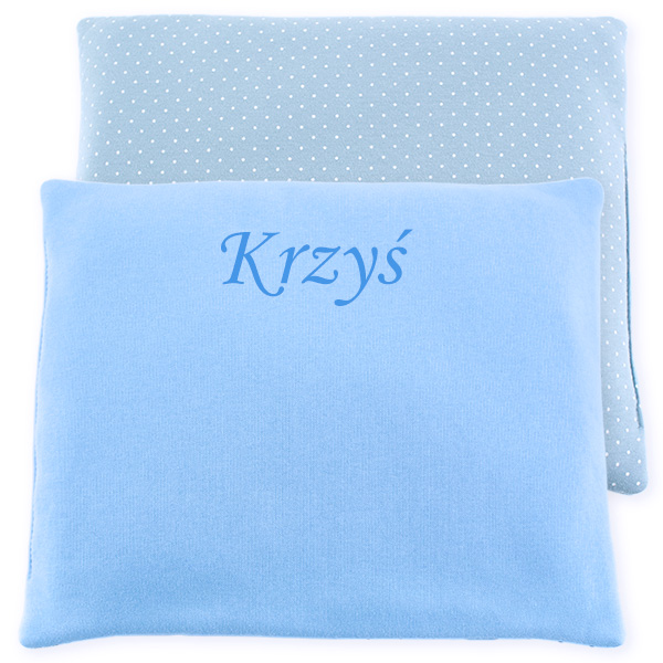 Cotton pillow with dedication 076 Sophie dots 28x34