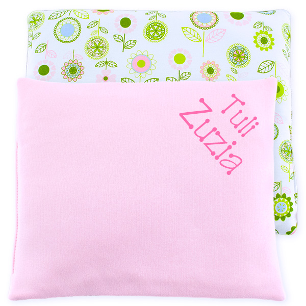 Cotton pillow with dedication 076 Sophie flowers 28x34