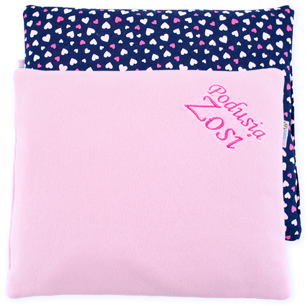 Cotton pillow with dedication 076 Sophie hearts 28x34