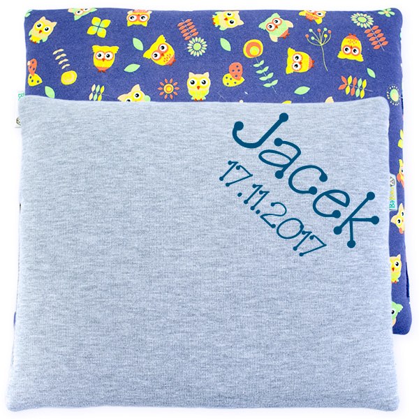 Cotton pillow with dedication 076 Sophie owls 28x34