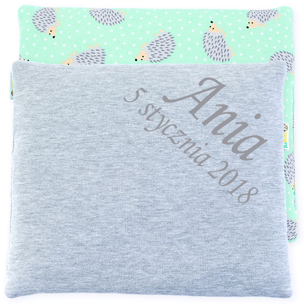 Cotton pillow with dedication 076 Sophie hedgehog 28x34