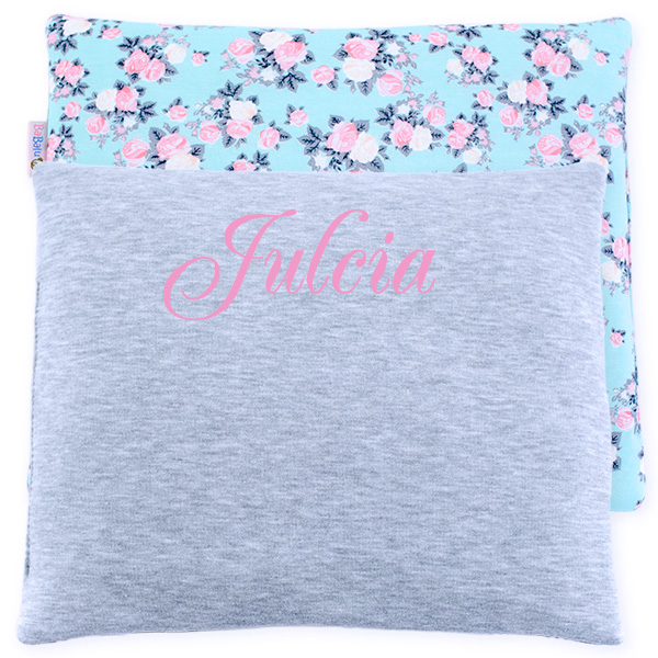 Cotton pillow with dedication 076 Sophie roses 28x34