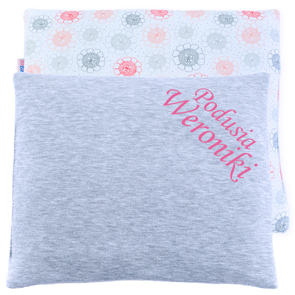 Cotton pillow with dedication 076 Sophie flower 28x34