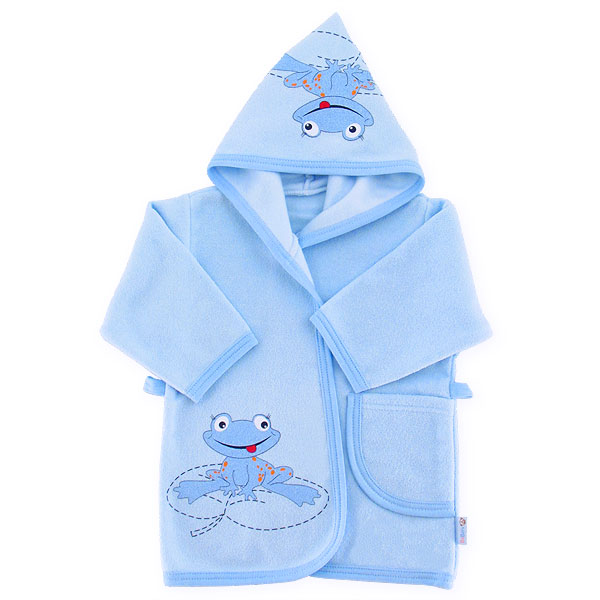 Bathrobe frog 80cm blue 041