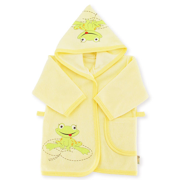 Bathrobe frog with dedication size yellow