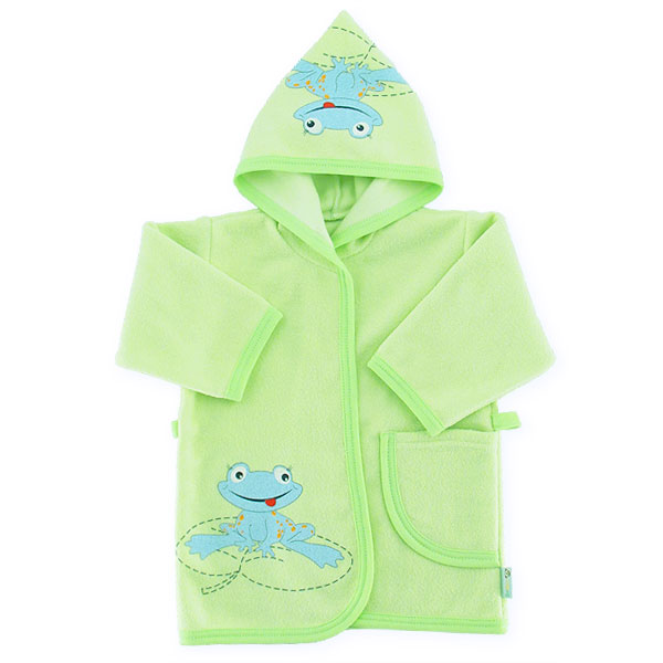 Bathrobe frog 80cm green 041