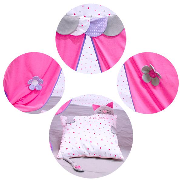 TIPI tent pink dots