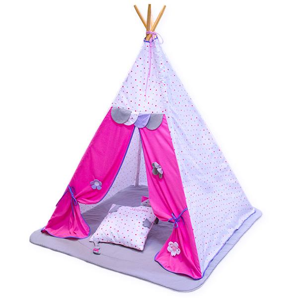 TIPI teltta vaaleanpunaisia ??pisteitä